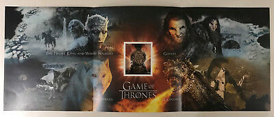 (74214) Game of Thrones Poster HBO / Royal Mail 60cm x 24cm