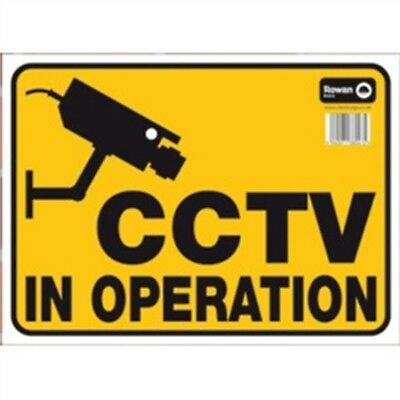 Classic Designs Warning Sign, Cctv In Operation