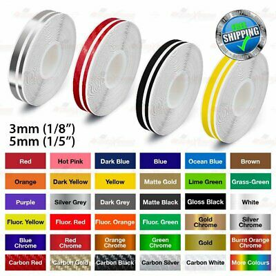 "3mm 5mm 9/16"" PIN STRIPE Car Model RTV Twin PinStriping Decal TAPE Vinyl Sticker"