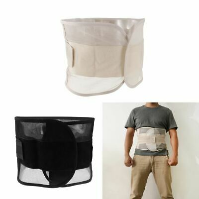 Mens Double Pull Lumbar Support Lower Back Belt Brace Strap - Pain Relief