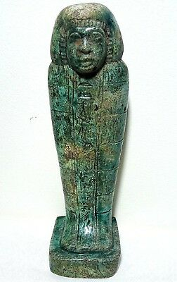 ANCIENT EGYPTIAN ANTIQUE USHABTI of King Pharaonic Statue 1850-1420 BC
