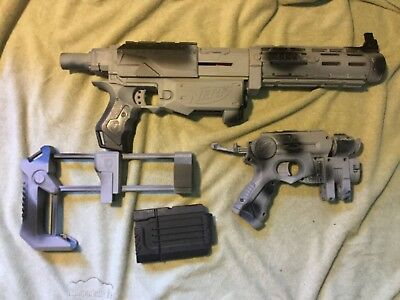 Custom Painted Nerf Gun Recon CS-6 and pistol For Cosplay,Steampunk Comicon