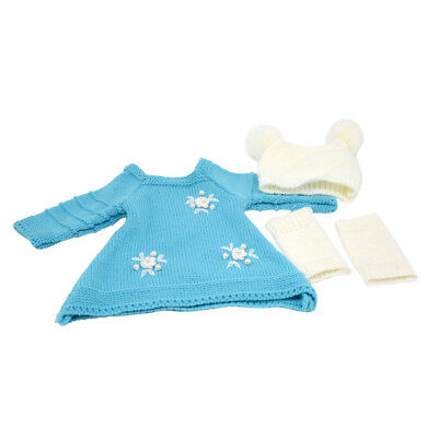"""Winter Sweater Skirt Hat Scoks Fits for 18"""" American Girl Clothes Accessory"""
