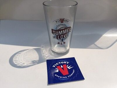 Summer Love Pint Glass - Victory Brewing - Craft Beer - VICTORY STICKER