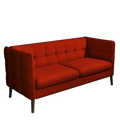 Hedy Red Fabric 3 Seater Sofa - Retro Inspired SOF028