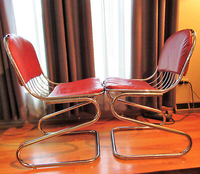 Mid Century Modern DAYSTROM Cantilever Chrome Chairs **PICK-UP ONLY**