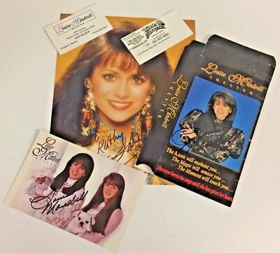 Vintage 1980's Louise Mandrell Signed Photo VHS Box Ticket Stubs Lot 5 Country