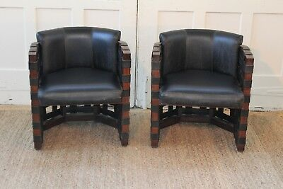 Pair Mid Century Woven Strap Club/Barrel/Lounge Accent Chairs Manner of Pearsall