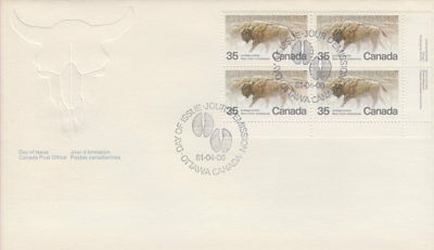 Canada #884 35¢ Endangered Wildlife Lr Plate Block First Day Cover