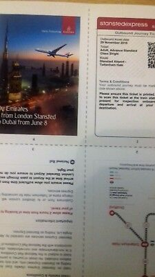 Stansted Express tickets x2, Airport to Tottenham Hale valid for 29th November