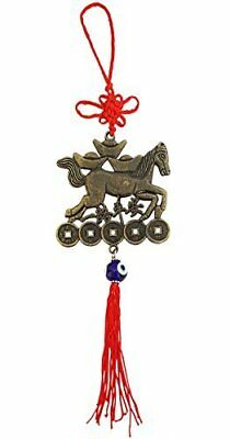 Mehrunnisa Galloping Horse With Coins, Ingots & Evil Eye Good Luck Charm Hanging