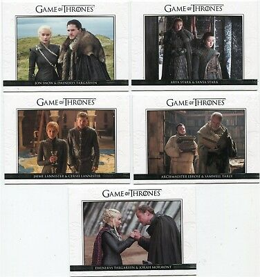 2018 Game of Thrones Season 7 Relationships 10 Card Insert Set DL41-DL50
