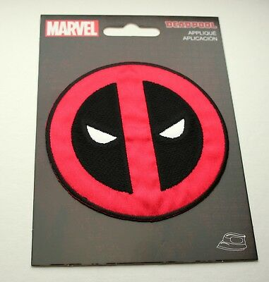 """Official Marvel Comics Deadpool Logo Large 7.1/"""" Cloth Back of Jacket Patch New"""