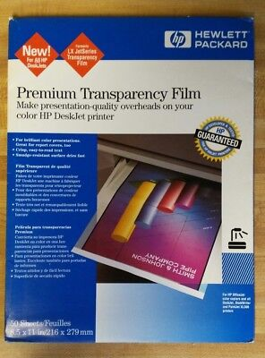 HP Premium Transparency Film - Open Package - 21 Sheets   C3834A