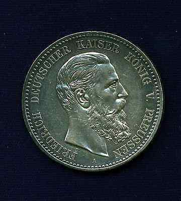 Germany / German States  Prussia  1888-A  5 Mark Silver Coin, Uncirculated!
