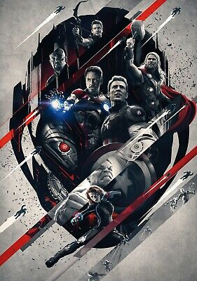 "Iron Man Captain America Hulk Movie 24/""x36/"" Poster 145 Age of Ultron"