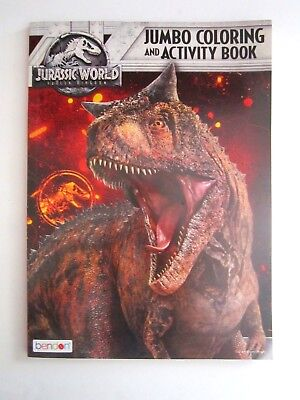 "Jurassic World Escape The Island Jumbo Coloring & Activity Book 8"" x 11"" New!"