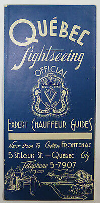 Vintage Travel Brochure Quebec Sightseeing Blue Band Guides Canada Tourism