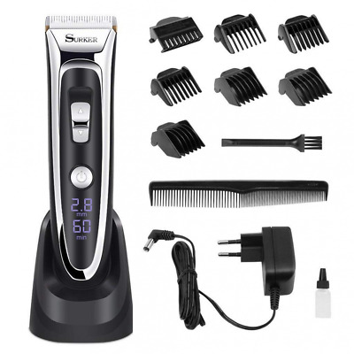 Facial and Mustache Trimmers, Cordless Electric Haircut Kit with Gear Adjustment