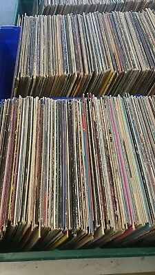 """50 X Vinyl 12"""" LP's All in original sleeves for Upcycling Arts -Crafts FREEPOST"""