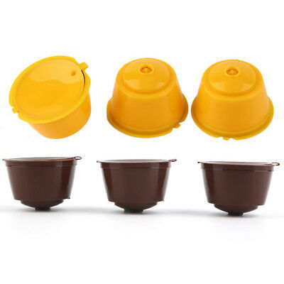 AU_ 3x Refillable Pod Cup Coffee Capsule Stainless Steel Filter for Dolce Gusto