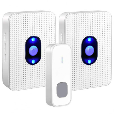 Wireless Waterproof Door Bell Chime Kit Operating at 1000ft 1 Button Transmitter