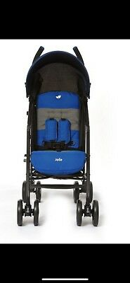 JOIE BLUE STRIPES NITRO STROLLER/BUGGY With Raincover.