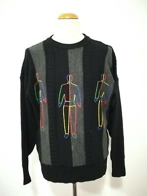 Carlo Colucci Pullover Sweatshirt Strick Knit Sweater Jumper Vintage Casual 52