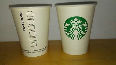12 Starbucks 8oz Hot Cup - Disposable Paper Hot White Cups