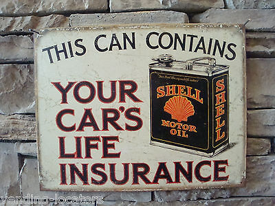 Shell Motor Oil Metal Sign Man Cave Gas Pump Station Advertising Texaco Mobil