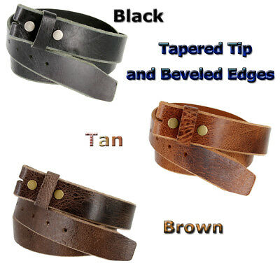 """Vintage Genuine  Buffalo Leather Casual Belt Strap 1-1/2"""" Wide Available 3 Color"""