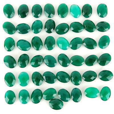 49 Pcs Natural Onyx Untreated Finest Green Checkerboard Cut Gems 15mm-16mm