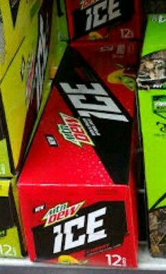 12 pack New Mountain Dew Ice Cherry lemon lime special soda pop
