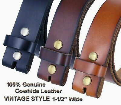 """Genuine  Leather Casual Belt Strap 1-1/2"""" Wide Available 3 Color"""