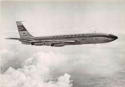 Luthansa Boeing Jet 707 Intercontinental~Airline Issued~Photo Postcard