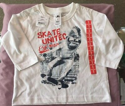 Boys shirt size one brand new with tag's skater shirt