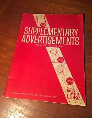 Coca Cola 1964 Supplementary Advertisements Clip Art Ads Bottles Cartons Booklet