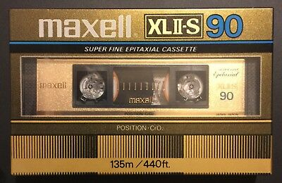 Maxell XLII-S 90 Tape Made in Japan New Sealed 1983-1985
