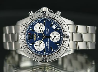 ffc0919c65c Breitling Colt Chrono Ocean A53350 Navy Blue Dial Stainless Steel 38mm