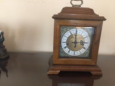 VINTAGE HAMILTON WESTMINSTER CHIME 8 DAY Mantle CLOCK. Made in GERMANY