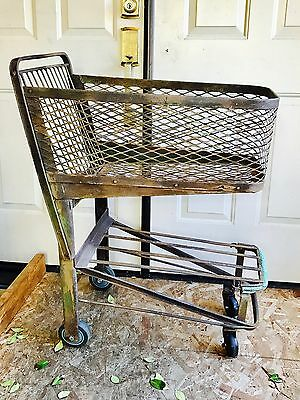 FUN vintage SHOPPING or GROCERY cart Or BASKET cool 1940's Antique, Small Cute!!