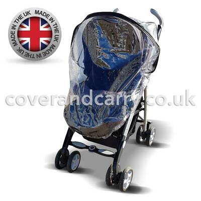 Made in The UK Supersoft Clear PVC Raincover for The Britax B-Dual Tandem