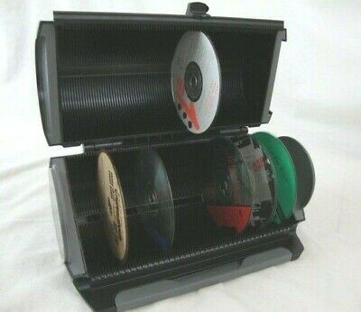 80 CD Storage DiscGear Rack Holder Disk Space Media DVD Organizer dvds