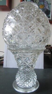 Vintage cut crystal lamp dome and base
