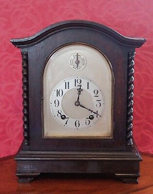 ANTIQUE GERMAN BRACKET 8-DAY MANTEL CLOCK WITH WESTMINSTER CHIMES, 19th Century