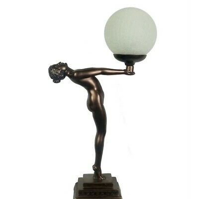 Outstretched Lady Art Deco Table Lamp Light  - Will Ship Australia Wide