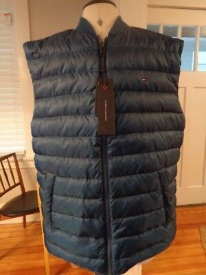 """TOMMY HILFIGER """"Cold Stop"""" down filled puffer vest NWT men's size XL Macy's"""
