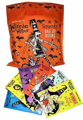 Winnie and Wilbur Spooky Bag of Books Collection 6 Books Set By Laura Owen Korky