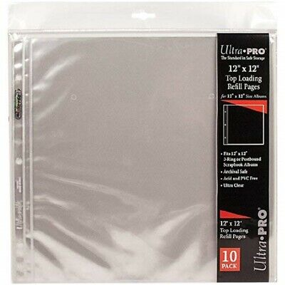 12-inch-by-12-inch Album Refill Sheet Protectors - Ultra Pro Pages Pkg