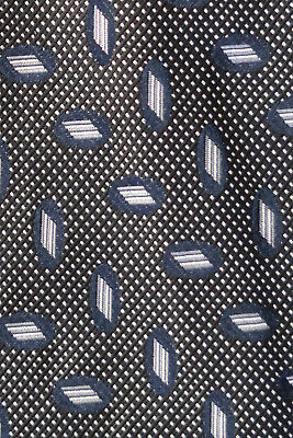 ddab6ddf52a2 Nautica Silk Tie Black & Navy Blue & Grey Shapes A Wedding Stunner In ...